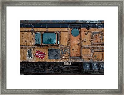 Rusty Milwaukee Road Framed Print by Mike Burgquist
