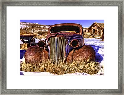 Framed Print featuring the painting Rusty by Muhie Kanawati