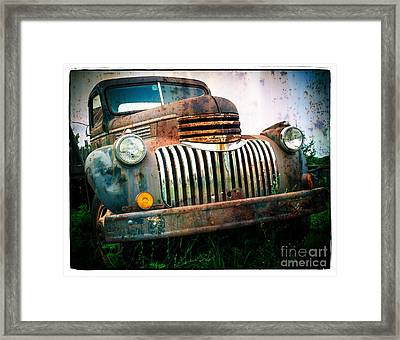Rusty Old Chevy Pickup Framed Print by Edward Fielding