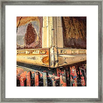 Rusty Old Ford Framed Print by Edward Fielding