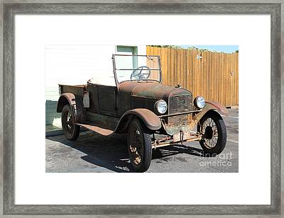Rusty Old Ford Jalopy 5d24641 Framed Print by Wingsdomain Art and Photography