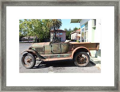 Rusty Old Ford Jalopy 5d24649 Framed Print by Wingsdomain Art and Photography