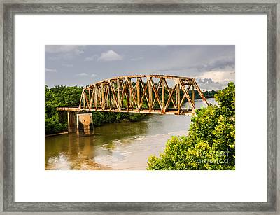 Rusty Old Railroad Bridge Framed Print by Sue Smith