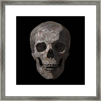 Rusty Old Skull Framed Print