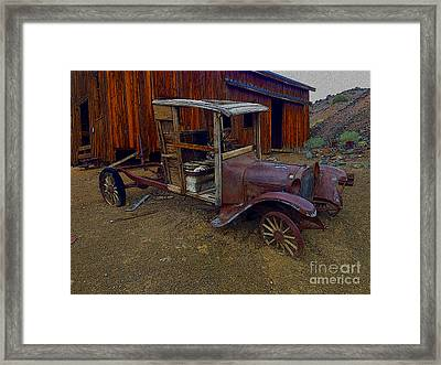 Rusty Old Vintage Car Framed Print by R Muirhead Art