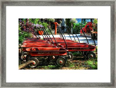 Rusty Old Wagons Framed Print by Mel Steinhauer