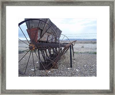 Rusty Perspective Framed Print by Angela Stout