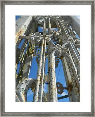 Rusty Pillar Framed Print by Tara Miller