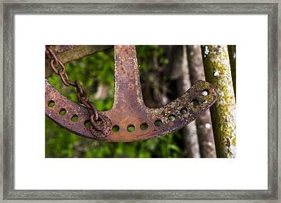 Rusty Plow Part Framed Print by Steven Ralser