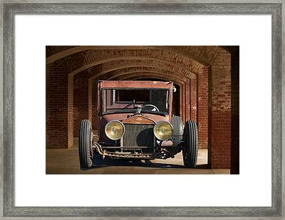 Rusty Rat Rod A Framed Print