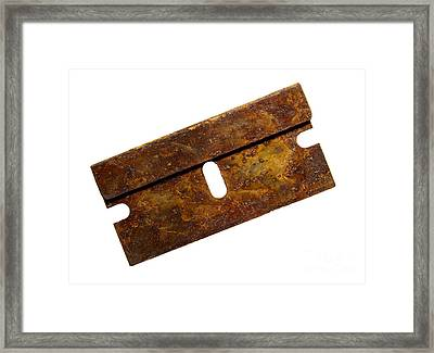 Rusty Razor Framed Print