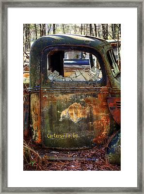 Rusty Rino Framed Print by Greg Mimbs