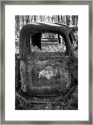 Rusty Rino In Black And White Framed Print by Greg Mimbs