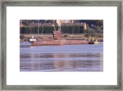 Rusty Russian Submarine W11 Framed Print