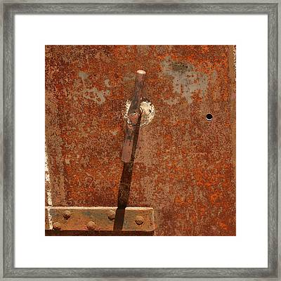 Rusty Safe Front Framed Print by Art Block Collections