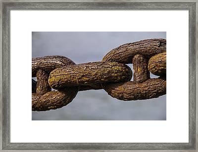 Rusty Sea Shore Chain Framed Print