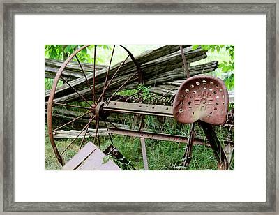 Rusty Seat Framed Print