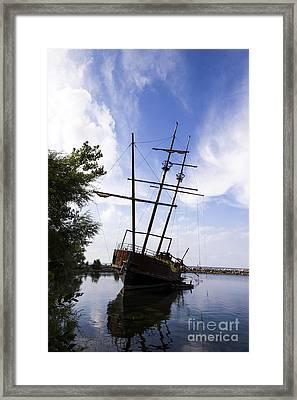 Rusty Shipwreck Framed Print by Juan Romagosa