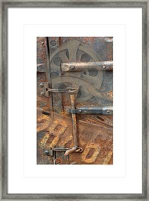 Framed Print featuring the photograph Rusty Stuff Montage by Bob Salo
