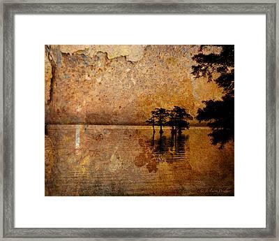 Rusty Sunrise Framed Print by J Larry Walker