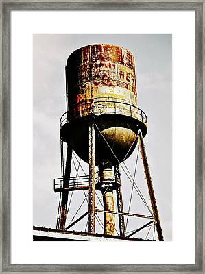 Rusty Tank Framed Print by Chastity Hoff