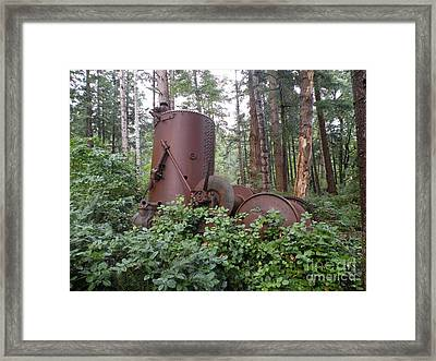 Rusty The Old Steamdonkey Framed Print by Val Carosella