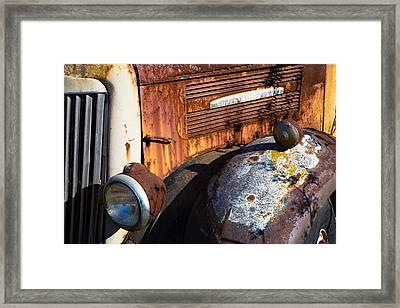 Rusty Truck Detail Framed Print