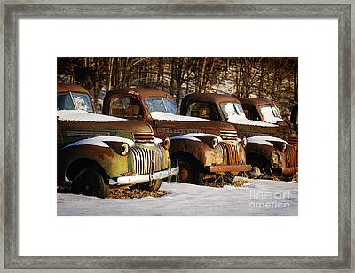 Rusty Trucks Framed Print