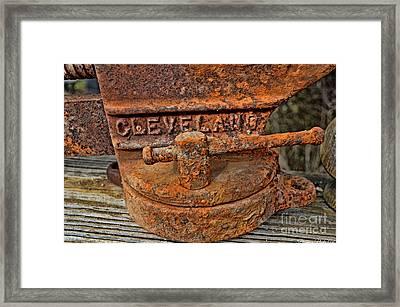 Rusty Vise 1 Framed Print by Debbie Portwood