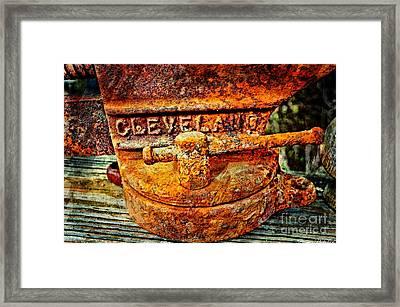 Rusty Vise II Framed Print by Debbie Portwood
