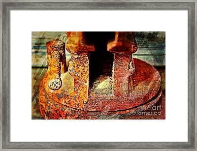 Rusty Vise Iv Framed Print by Debbie Portwood
