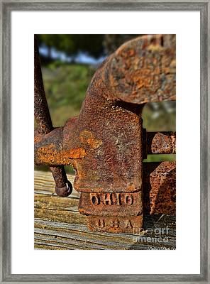 Rusty Vise V Framed Print by Debbie Portwood