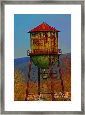 Rusty Water Tower Framed Print by Beth Ferris Sale