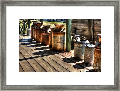 Rusty Western Cans 1 Framed Print by Mel Steinhauer