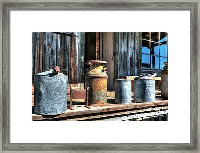 Rusty Western Cans 3 Framed Print by Mel Steinhauer