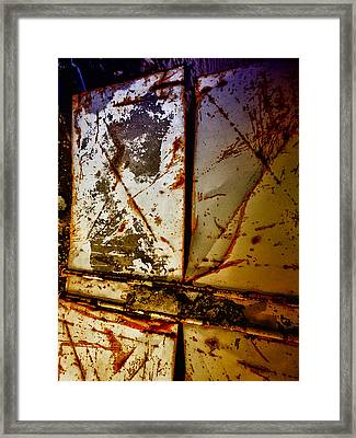 Rusty X Framed Print
