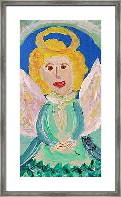 Framed Print featuring the painting Ruth E. Angel by Mary Carol Williams