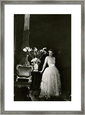 Ruth Gordon Performing In Serena Blandish Framed Print by Cecil Beaton