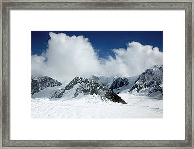 Ruth Gorge In Alaska's Denali National Park Framed Print