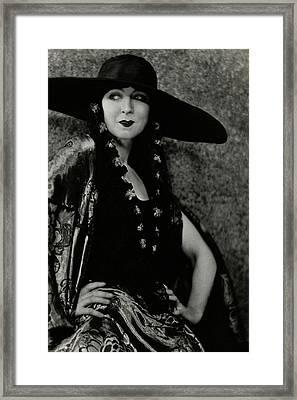 Ruth St. Denis In Costume Framed Print by Nickolas Muray