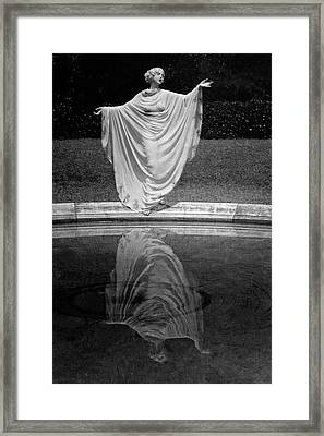 Ruth St. Denis Wearing A Toga Framed Print