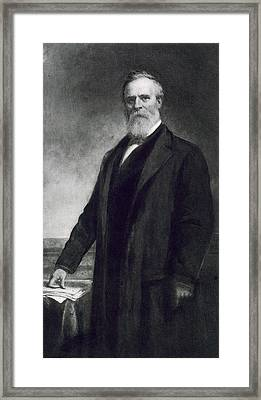 Rutherford B Hayes Framed Print by Daniel Huntington