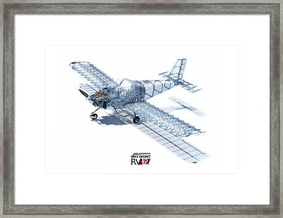 Rv-12 Cutaway With Logo Framed Print by Hangar B Productions