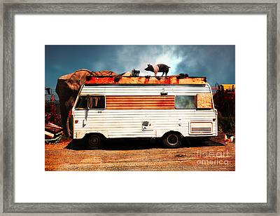Rv Trailer Park 5d22705 V2 Framed Print by Wingsdomain Art and Photography