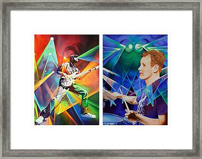 Framed Print featuring the painting Ryan And Kris by Joshua Morton