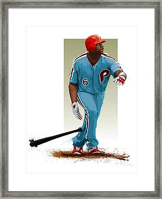 Ryan Howard Framed Print by Scott Weigner