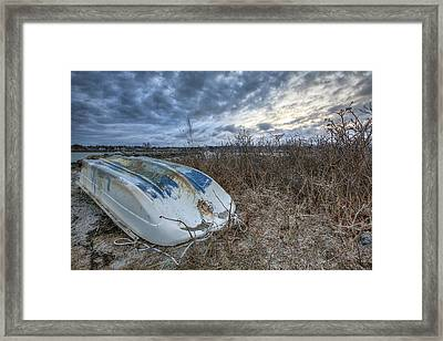 Rye Dinghy Framed Print by Eric Gendron