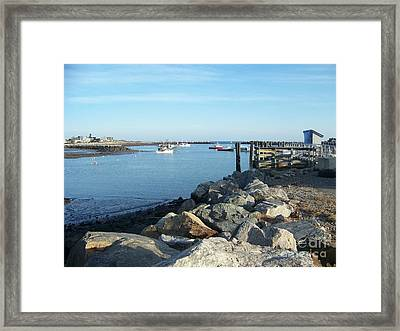 Framed Print featuring the photograph Rye Harbor  by Eunice Miller