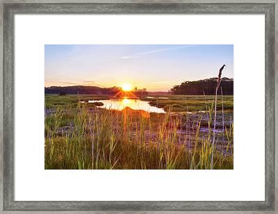 Rye Marsh Sunset Framed Print by Eric Gendron