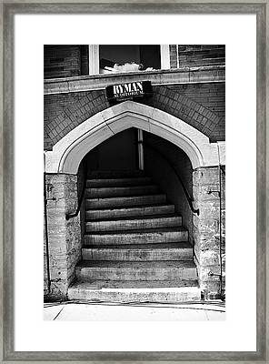 Ryman Auditorium Back Door Framed Print